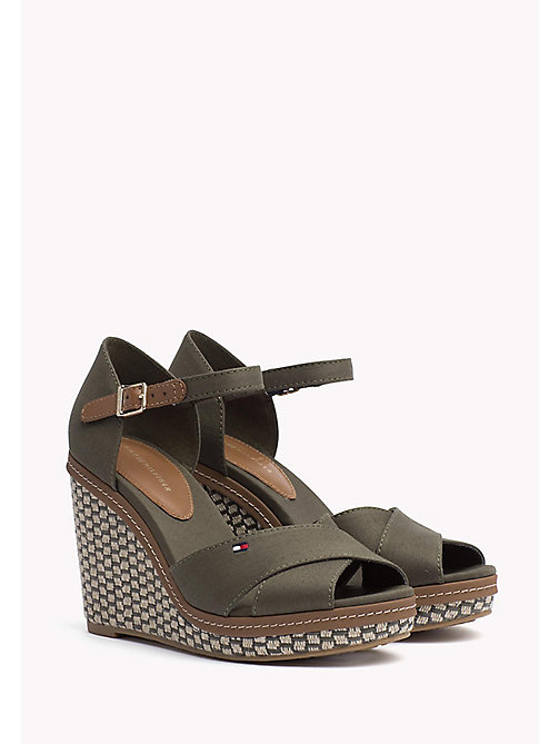 TOMMY HILFIGER Iconic Elena Sandals - OLIVE NIGHT - TOMMY HILFIGER Wedges - main image