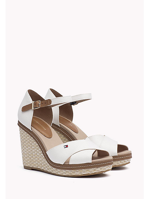 TOMMY HILFIGER Iconic Elena Sandals - WHISPER WHITE - TOMMY HILFIGER Wedges - main image