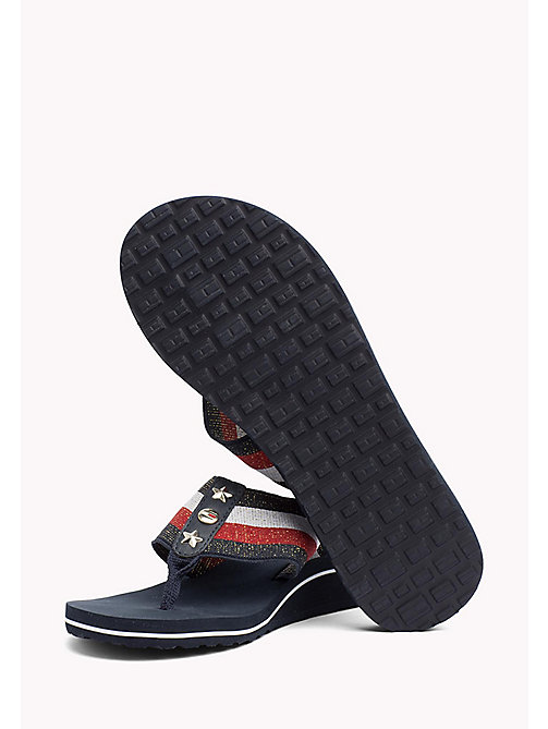 TOMMY HILFIGER Metallic Wedge Sandals - RWB - TOMMY HILFIGER Flip Flops & Sliders - detail image 1