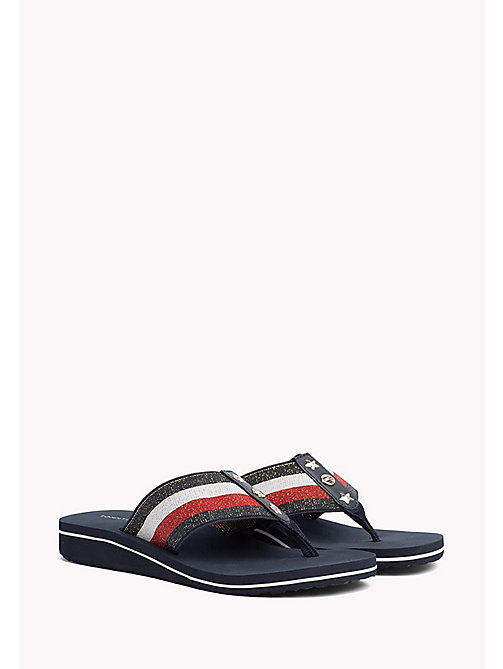 Metallic Wedge Sandals - RWB - TOMMY HILFIGER Shoes - main image