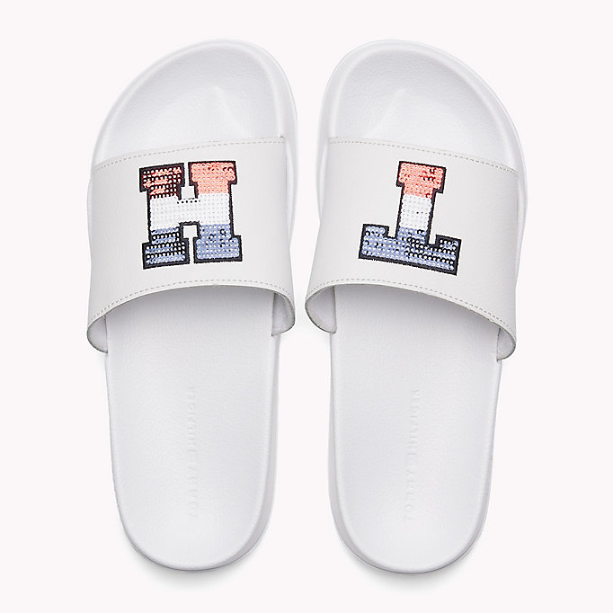 TOMMY HILFIGER Sparkly Logo Sliders - MIDNIGHT - TOMMY HILFIGER SHOES - detail image 3
