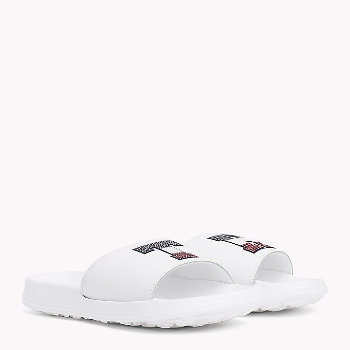 TOMMY HILFIGER Sparkly Logo Sliders - MIDNIGHT - TOMMY HILFIGER Women - main image