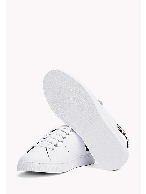 TOMMY HILFIGER OPEN BACK LEATHER SNEAKER - WHITE - TOMMY HILFIGER Athleisure - dettaglio immagine 1