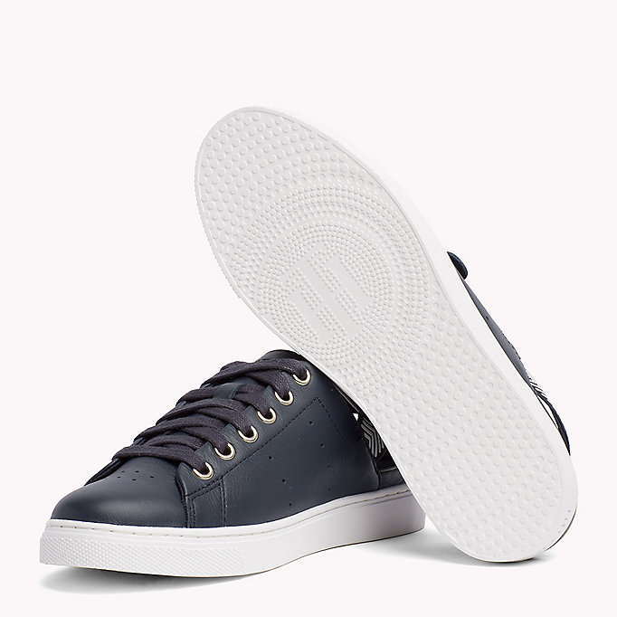 TOMMY HILFIGER OPEN BACK LEATHER SNEAKER - WHITE - TOMMY HILFIGER SCHOENEN - detail image 1