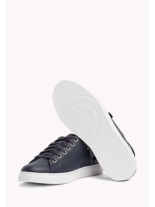 TOMMY HILFIGER OPEN BACK LEATHER SNEAKER - MIDNIGHT - TOMMY HILFIGER Trainers - detail image 1