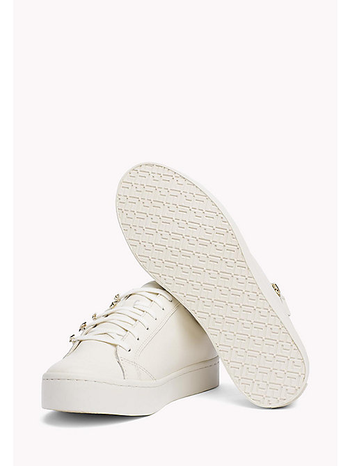 TOMMY HILFIGER Star Stud Leather Trainers - WHISPER WHITE - TOMMY HILFIGER The Office Edit - detail image 1