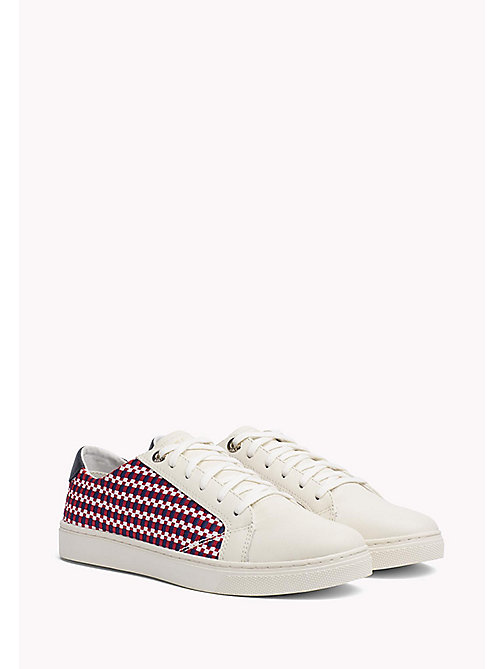 TOMMY HILFIGER Signature Woven Trainers - RWB - TOMMY HILFIGER VACATION FOR HER - main image