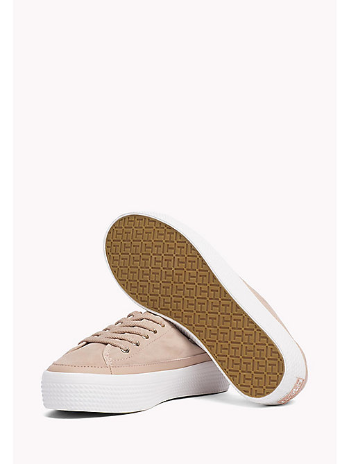TOMMY HILFIGER Suede Plateau Trainers - DUSTY ROSE - TOMMY HILFIGER Shoes - detail image 1