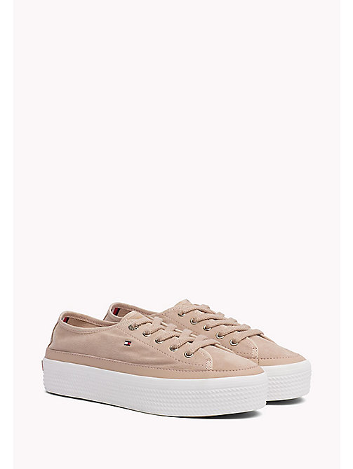 TOMMY HILFIGER Sneakers in suede con suola alta - DUSTY ROSE - TOMMY HILFIGER Sneakers - immagine principale