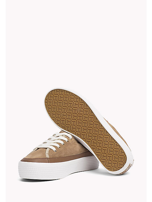 TOMMY HILFIGER Suede Plateau Trainers - DESERT SAND -  Shoes - detail image 1