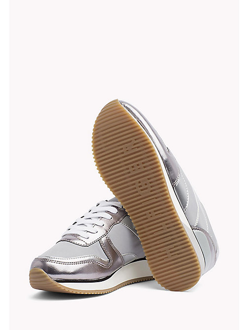 TOMMY HILFIGER Metallic Trainers - LIGHT GREY - TOMMY HILFIGER Shoes - detail image 1