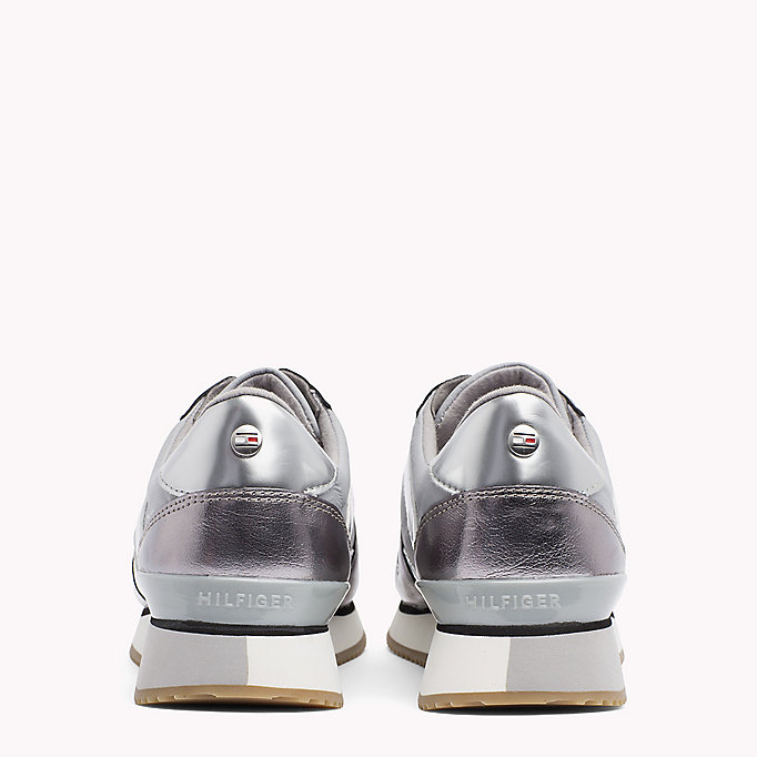 TOMMY HILFIGER Metallic Trainers - SAND - TOMMY HILFIGER Women - detail image 2