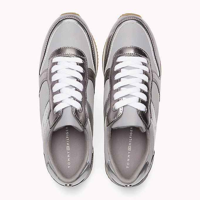 TOMMY HILFIGER Metallic Trainers - SAND - TOMMY HILFIGER Women - detail image 3