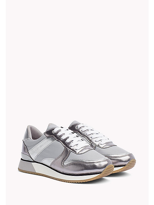 Metallic Trainers - LIGHT GREY - TOMMY HILFIGER SHOES - main image