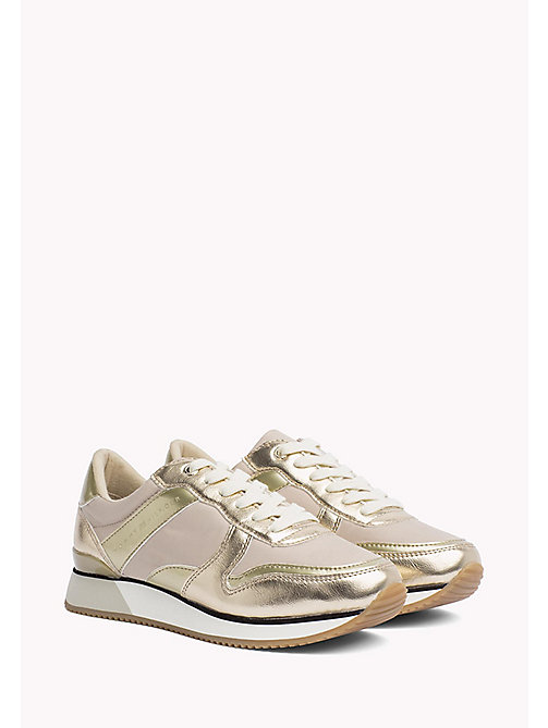 TOMMY HILFIGER Metallic Trainers - SAND - TOMMY HILFIGER Shoes - main image