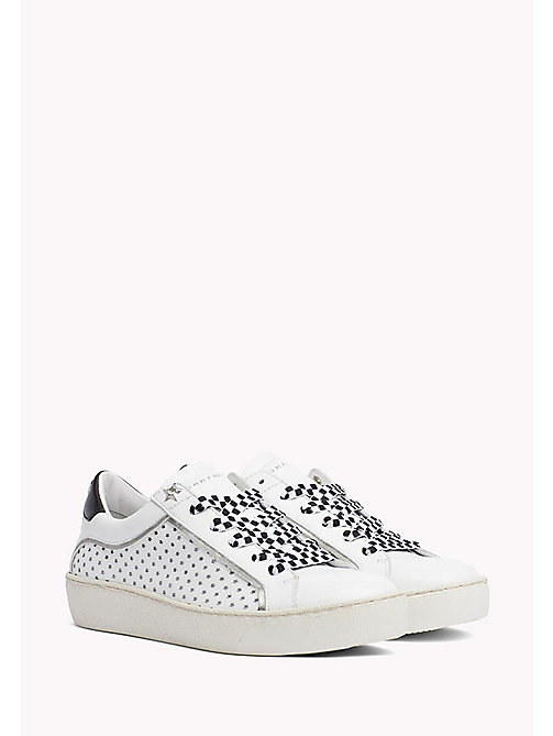 TOMMY HILFIGER Star Leather Trainers - WHITE - TOMMY HILFIGER Shoes - main image