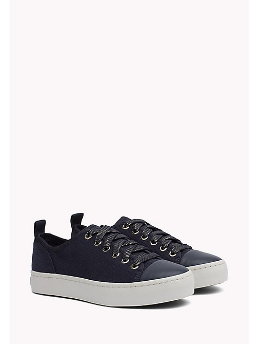 TOMMY HILFIGER Canvas sneaker - MIDNIGHT - TOMMY HILFIGER Best Verkocht - main image