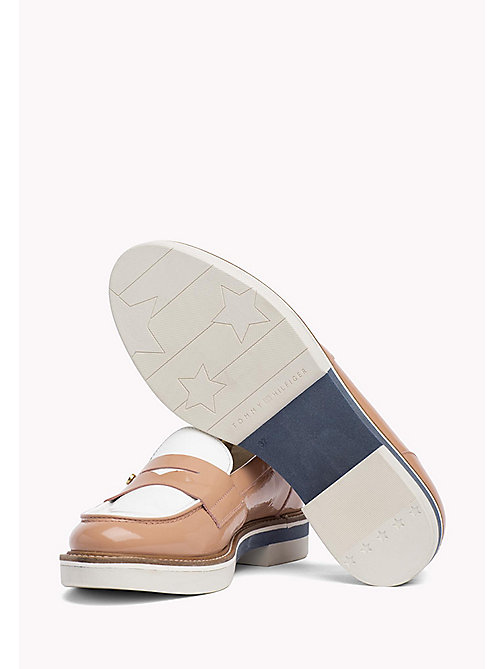 TOMMY HILFIGER Patent Leather Penny Loafers - SILKY NUDE - TOMMY HILFIGER Moccasins & Loafers - detail image 1