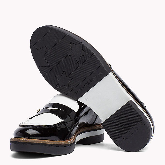 TOMMY HILFIGER Patent Leather Penny Loafers - SILKY NUDE - TOMMY HILFIGER Women - detail image 1