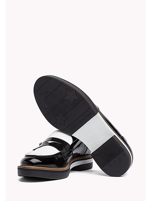 TOMMY HILFIGER Patent Leather Penny Loafers - BLACK - TOMMY HILFIGER Shoes - detail image 1