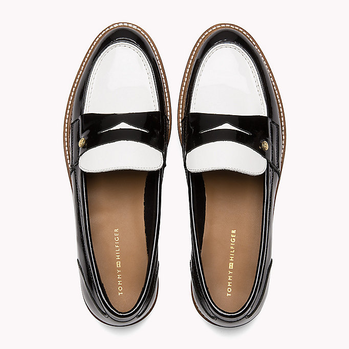 TOMMY HILFIGER Patent Leather Penny Loafers - SILKY NUDE - TOMMY HILFIGER SHOES - detail image 3
