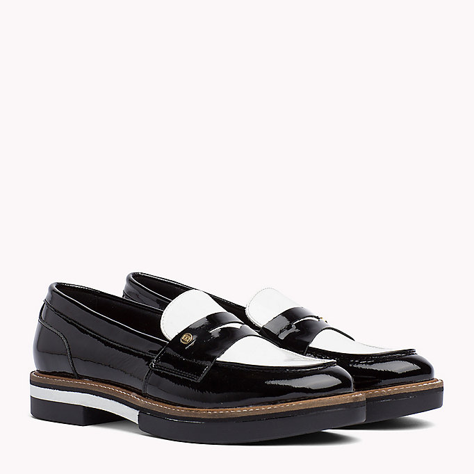TOMMY HILFIGER Patent Leather Penny Loafers - SILKY NUDE - TOMMY HILFIGER SHOES - main image