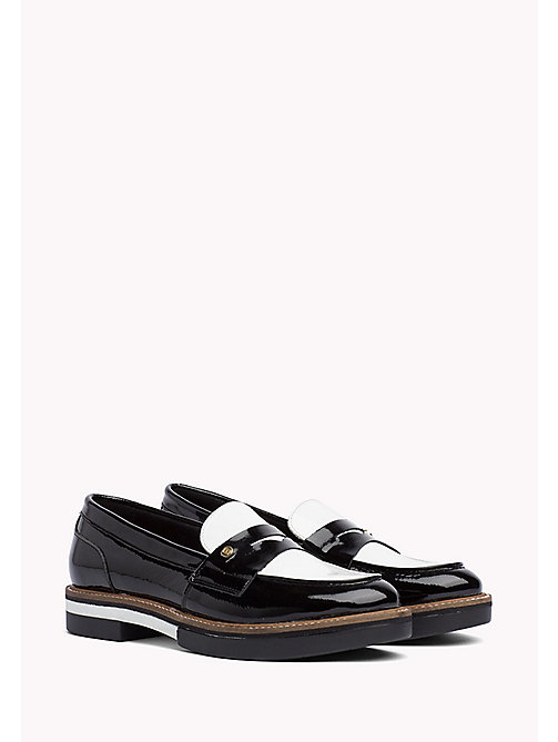 TOMMY HILFIGER Patent Leather Penny Loafers - BLACK - TOMMY HILFIGER Shoes - main image