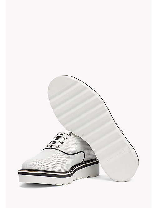 TOMMY HILFIGER Perforated Lace-Up Shoes - WHISPER WHITE - TOMMY HILFIGER Chaussures plates - image détaillée 1