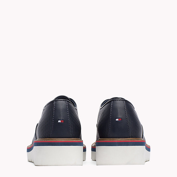 TOMMY HILFIGER Perforated Lace-Up Shoes - WHISPER WHITE - TOMMY HILFIGER Donne - dettaglio immagine 2