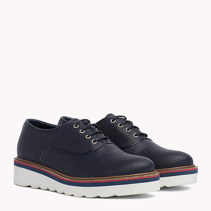 TOMMY HILFIGER Perforated Lace-Up Shoes - WHISPER WHITE - TOMMY HILFIGER Donne - immagine principale