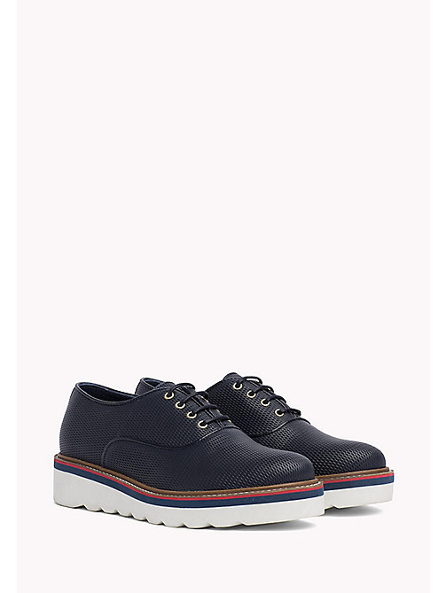 TOMMY HILFIGER Perforated Lace-Up Shoes - MIDNIGHT - TOMMY HILFIGER Flat Shoes - main image