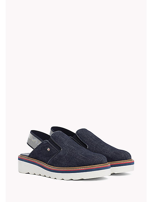TOMMY HILFIGER Denim Slingback Slip-On Shoes - DENIM - TOMMY HILFIGER Moccasins & Loafers - main image