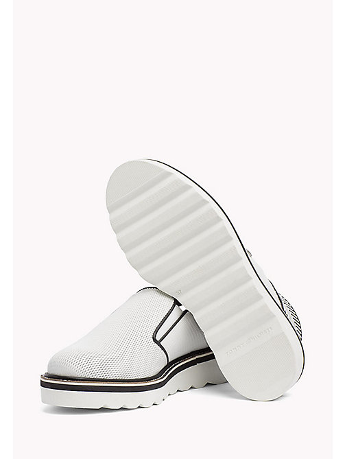 TOMMY HILFIGER Perforated Slip-On Shoes - WHISPER WHITE - TOMMY HILFIGER Moccasins & Loafers - detail image 1