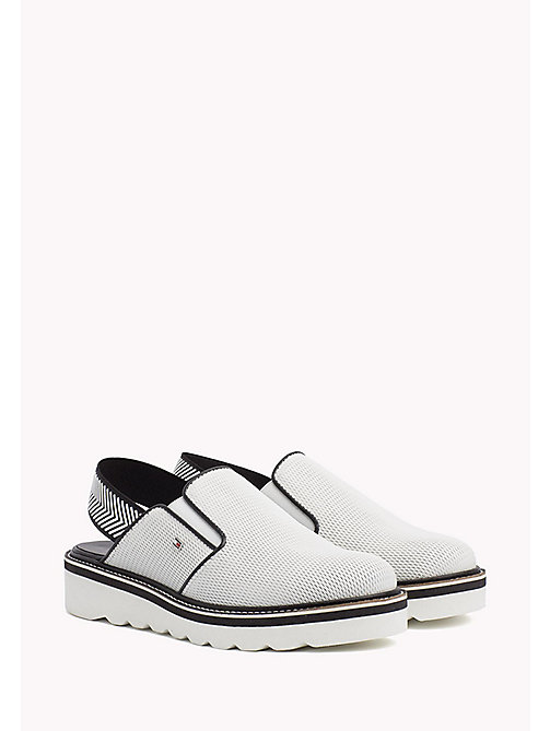 TOMMY HILFIGER Perforated Slip-On Shoes - WHISPER WHITE - TOMMY HILFIGER Moccasins & Loafers - main image