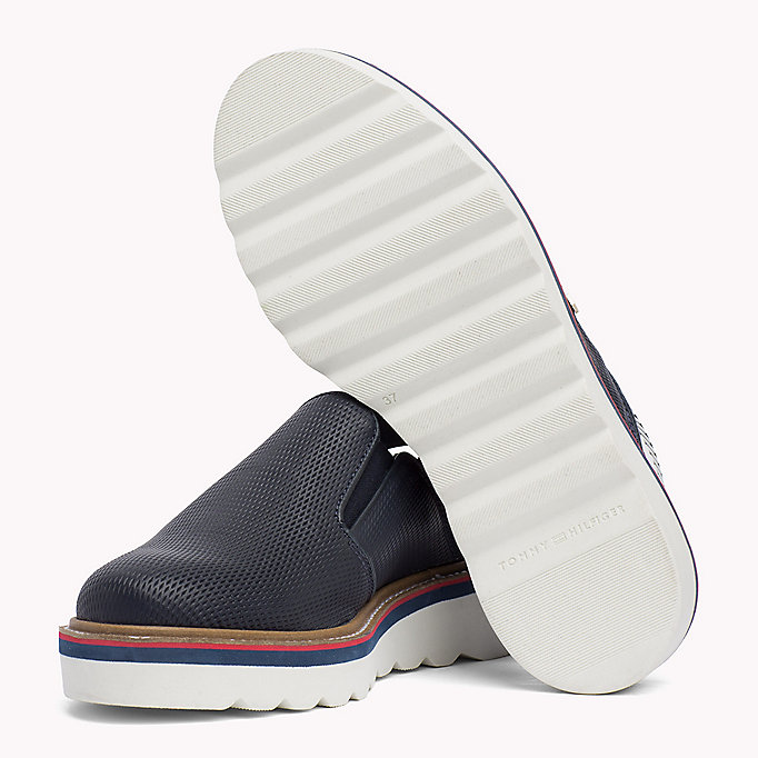 TOMMY HILFIGER Perforated Slip-On Shoes - WHISPER WHITE - TOMMY HILFIGER Femmes - image détaillée 1