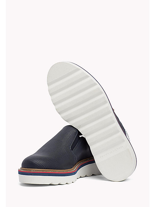 TOMMY HILFIGER Perforated Slip-On Shoes - MIDNIGHT - TOMMY HILFIGER Moccasins & Loafers - detail image 1