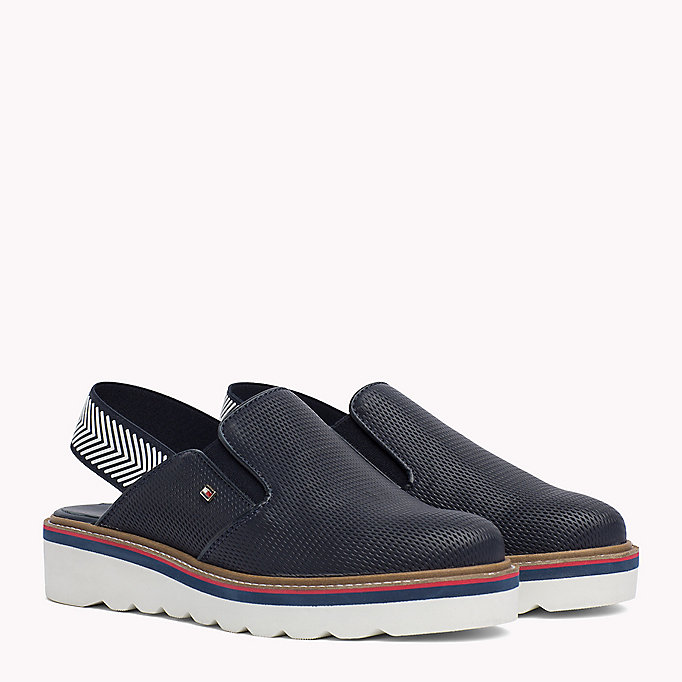 TOMMY HILFIGER Perforated Slip-On Shoes - WHISPER WHITE - TOMMY HILFIGER Femmes - image principale