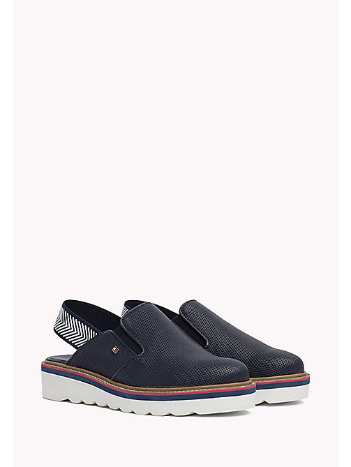 TOMMY HILFIGER Perforated Slip-On Shoes - MIDNIGHT - TOMMY HILFIGER Moccasins & Loafers - main image