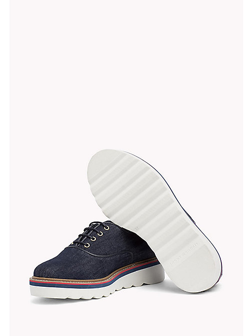 TOMMY HILFIGER Denim Lace-Up Shoes - DENIM - TOMMY HILFIGER Chaussures plates - image détaillée 1