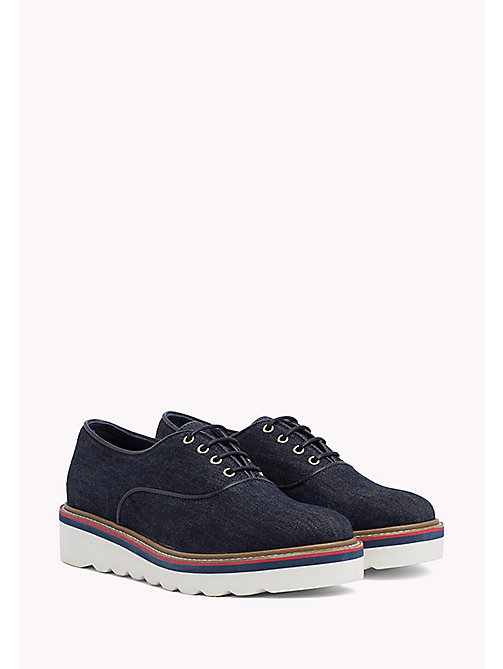 TOMMY HILFIGER Denim Lace-Up Shoes - DENIM -  Flat Shoes - main image