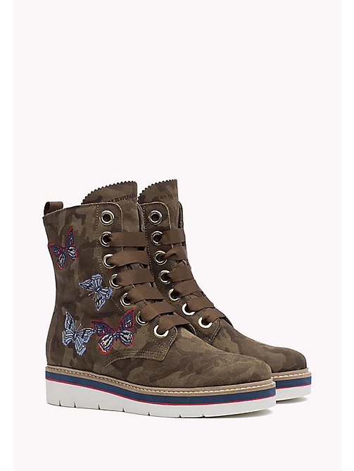 TOMMY HILFIGER Camo Suede Boot - CAMO -  Boots - main image