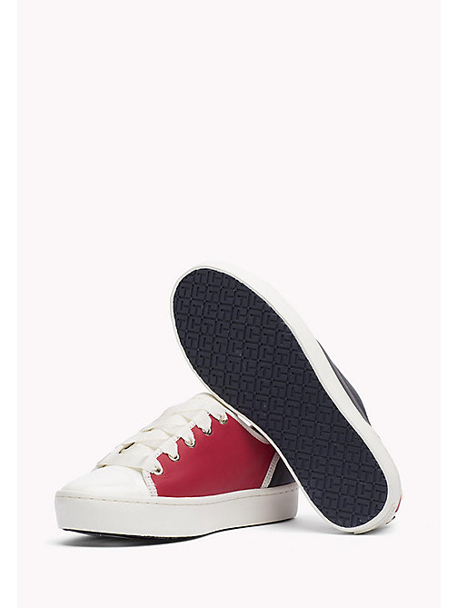 TOMMY HILFIGER Leather Sneaker - RWB - TOMMY HILFIGER Best Sellers - detail image 1