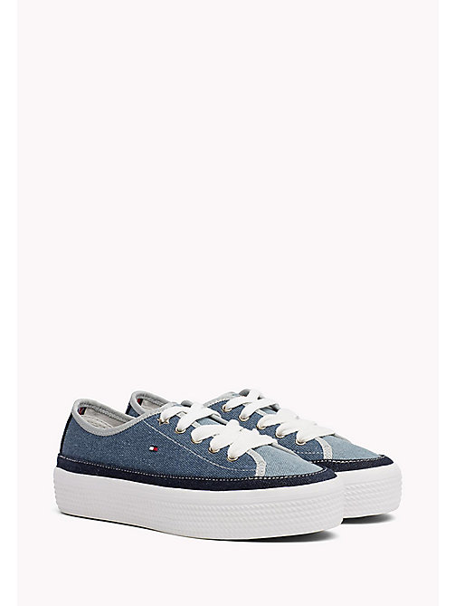 TOMMY HILFIGER Denim Flatform Trainers - DENIM - TOMMY HILFIGER Shoes - main image