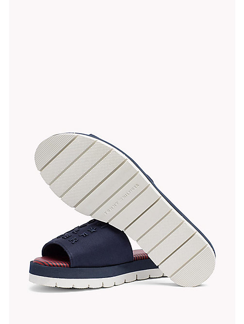 TOMMY HILFIGER Signature Slip-On Beach Sandals - TOMMY NAVY - TOMMY HILFIGER VACATION FOR HER - detail image 1