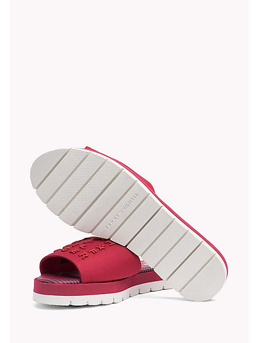 TOMMY HILFIGER Signature Slip-On Beach Sandals - TANGO RED - TOMMY HILFIGER Sandals - detail image 1