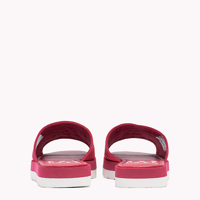 TOMMY HILFIGER Signature Slip-On Beach Sandals - TOMMY NAVY - TOMMY HILFIGER SHOES - detail image 2