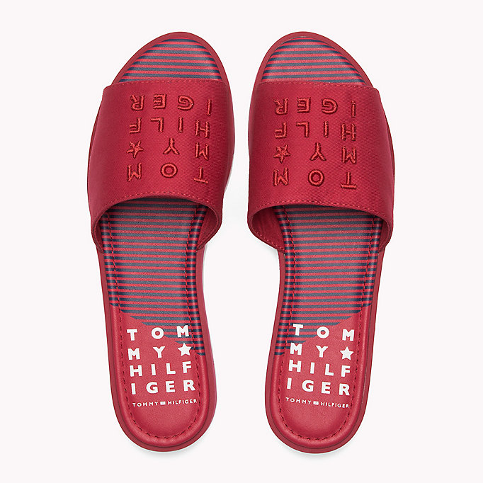 TOMMY HILFIGER Signature Slip-On Beach Sandals - TOMMY NAVY - TOMMY HILFIGER SHOES - detail image 3
