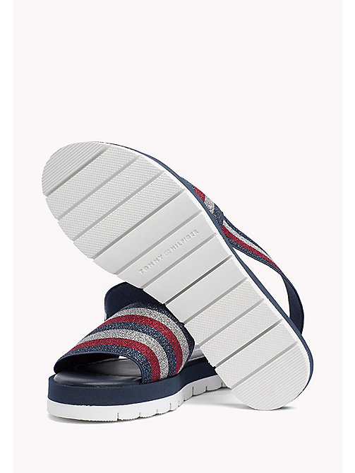 TOMMY HILFIGER Stripe Slingback Slide Sandals - TOMMY NAVY - TOMMY HILFIGER Sandals - detail image 1