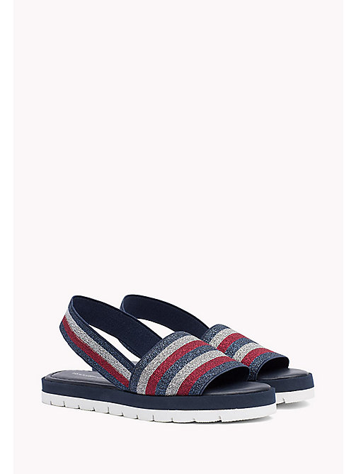TOMMY HILFIGER Stripe Slingback Slide Sandals - TOMMY NAVY - TOMMY HILFIGER Sandals - main image