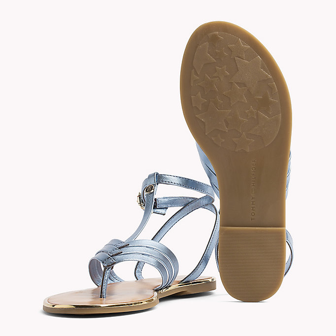 TOMMY HILFIGER Metallic T-Bar Sandals - FRAMBUESA - TOMMY HILFIGER SHOES - detail image 1